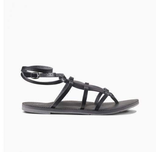 Black vegan leather sandals - REEF NAOMI 4 BLACK