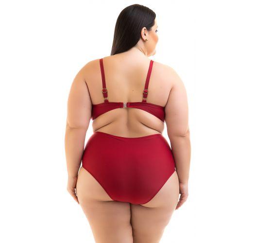 Plus size dark red underwired balconette bikini - BIKINI RUANA DIVINO