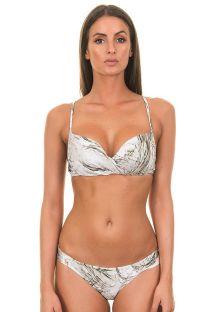 Белый бикини в бразильском стиле, с уполовиненными чашками - ESCAMAS BRANCAS