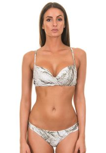 White, half-cup Brazilian bikini - ESCAMAS BRANCAS
