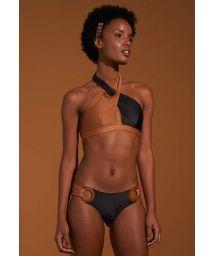 Zweiton Crop-Top-Bikini aus Bi-Material - TORCIDO TERRITORIOS