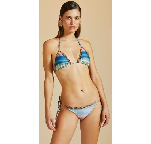 Colorful triangle bikini wavy edges - ZIG ZAG IMPRESSIONISMO