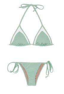 Strappy bikini - TULE MENTHOL