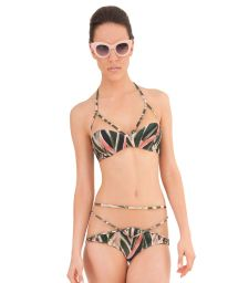 A luxury strappy swimsuit made from two materials - TULLE ARARUTA