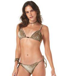 Mörkbeige brasiliansk bikini i sammet - VELUDO
