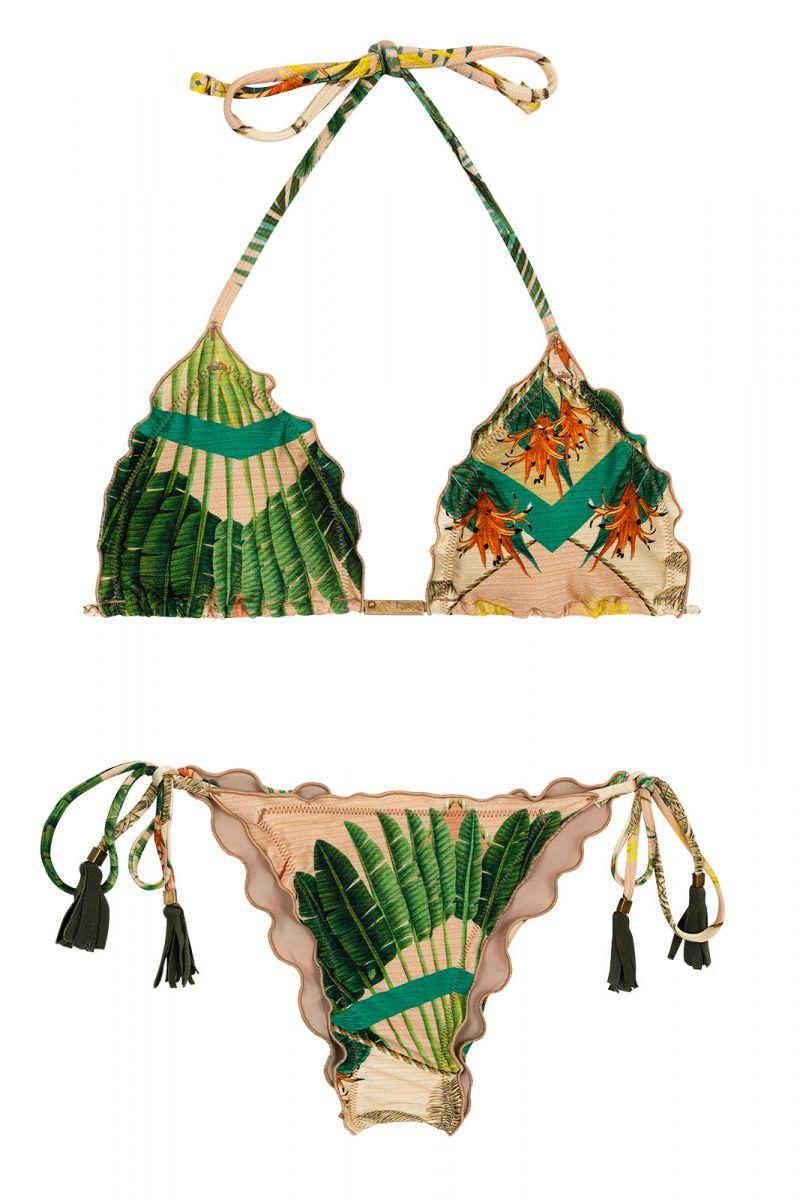 BBS X RIO DE SOL - Printed side-tie scrunch bikini - ALPINIA FRUFRU