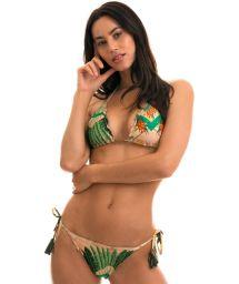 BBS X RIO DE SOL - Bikini scrunch imprimé à pompons - ALPINIA FRUFRU