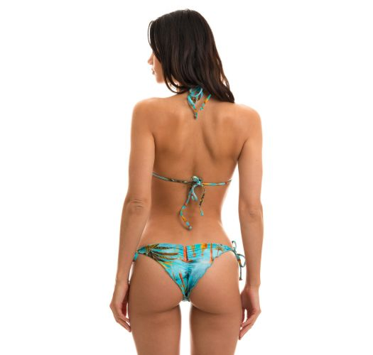 BBS X RIO DE SOL - Tropical side-tie scrunch bikini - POR DO SOL FRUFRU