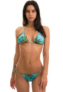 BBS X RIO DE SOL - Bikini scrunch tropical bords ondulés - POR DO SOL FRUFRU