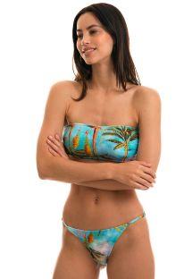BBS X RIO DE SOL - Tropical bandeau bikini - POR DO SOL RETO