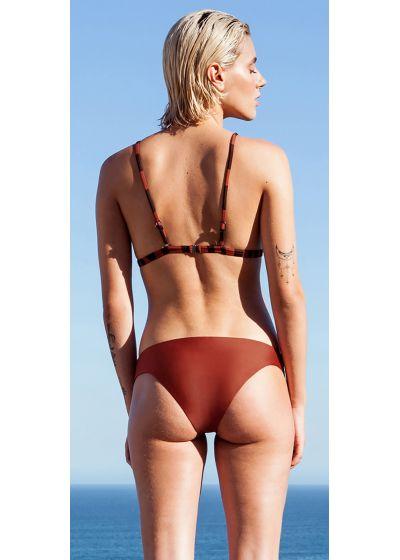 Triangle zebra bikini with reversible bottom - BIKINI ISIS FIXO DOUBLE ZEBRA MOCCA / PRETO