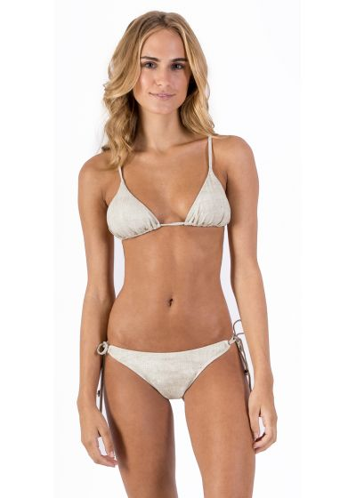 Linen scrunch Brazilian bikini - CORTININHA LIGHT LINEN