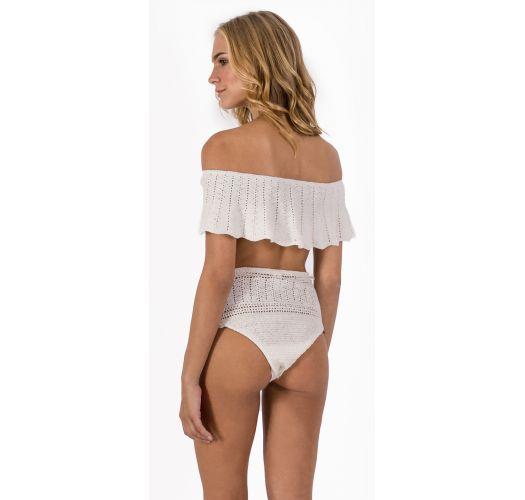 Hochtaillierter Bikini und Häkel-Bandeau-Top - OMBRO BOHO BEACH