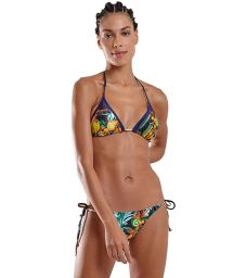 Multicolored tropical Brazilian bikini - ICEBERG IQUITOS