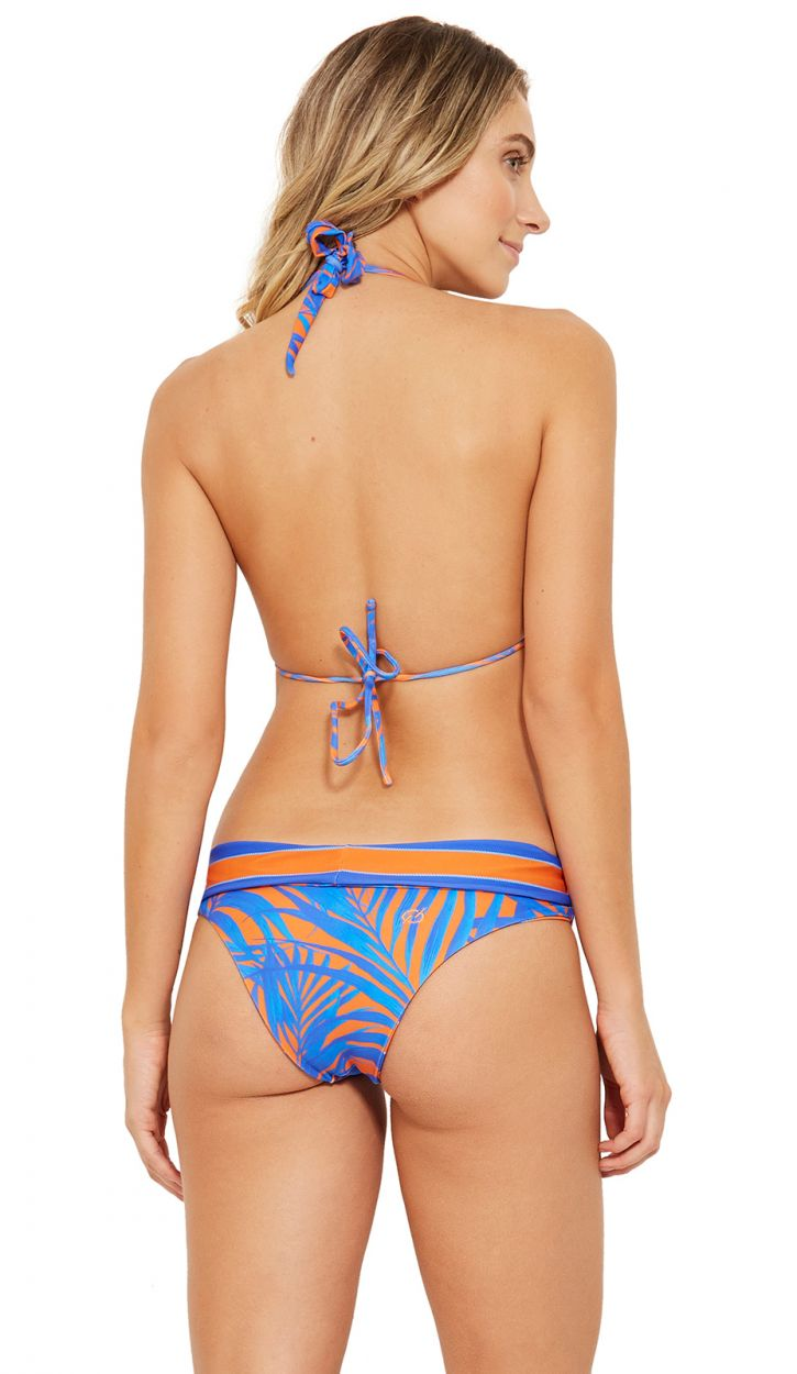 Reversible blue and orange halter bikini - ACQUA CAYENA