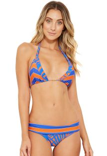 Reversible blue and orange halter bikini - ACQUA CAYENA
