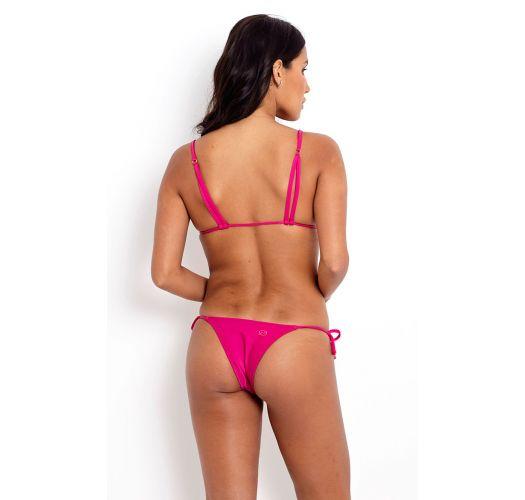 Triangel-Bikini, Accessoire, Strappy-Rücken - AMARANTO