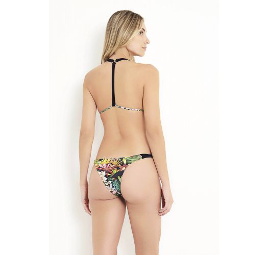 Triangle tropical / floral T-back bikini - ANGRA DOS REIS
