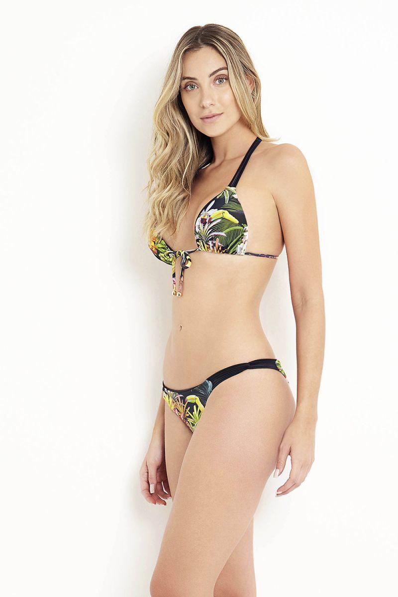 Tropisk/ blommig trekants- bikini med T-rygg - ANGRA DOS REIS
