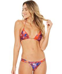 Roter und blauer doppelseitiger Bikini mit Blumenmuster - BELA NOTURNELLA