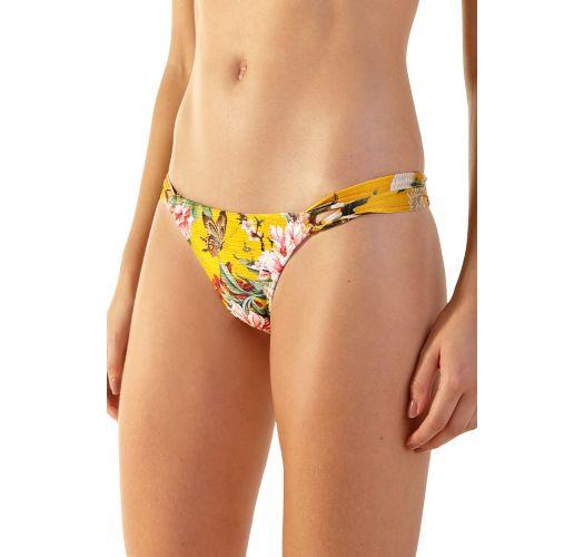 Yellow floral double side straps bikini - BELA XANGAI