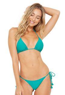 Bikini brasiliano verde con nappe - BOJO MALAQUITA