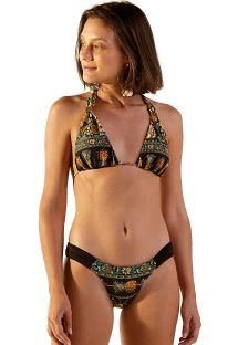 Reversible black & ocher Brazilian bikini - BOREAL KASUTI