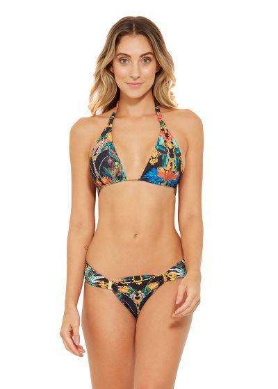 Colorful halter bikini with accessorized bottom - CARIBE REALEZA