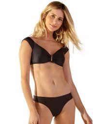 Bardot-Bikini-Top und ausgeschnittener Tanga - CHERRY PRETO
