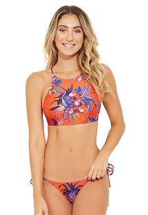 Κόκκινο και μπλε μπικίνι με crop top σουτιέν και σλιπ τύπου «scrunch» - Bikini Rossoe blu con crop top e slip scrunch - CORAÇÃO NOTURNELLA