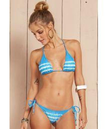 Blue tie-dye Brazilian swimsuit - DROPS