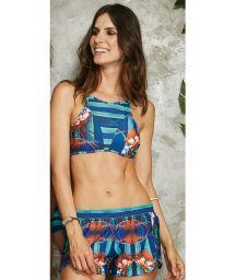 Crop top ensemble and tropical striped shorts - ENERGIA POTI