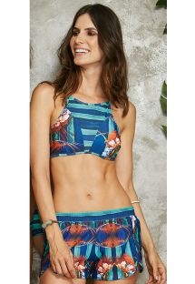 Ensemble crop top et short rayé tropical - ENERGIA POTI