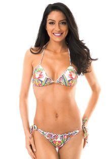 Bikini à motifs tropicaux bords ondulés - GUARANA MEL