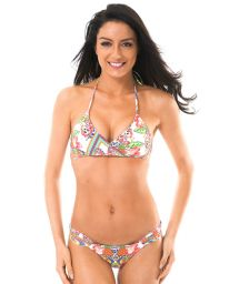 Multicoloured criss-cross triangle top bikini - GUARANA ORLA