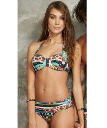 Ethnic print underwired balconnet bikini - IBIZA MOCAMBIQUE