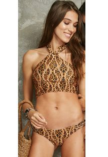Animal print crop top bikini with eyelet detail - ILHOS SELAVAGEM