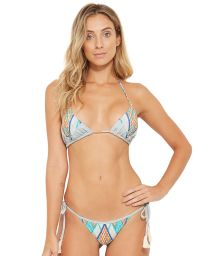 Sidoknytbar färgglad bikini med tofsar - JADE JEANS COLLAGE