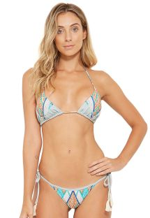 Side-tie colorful bikini with tassels - JADE JEANS COLLAGE