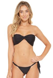 One side-tie black bikini bandeau - LAKE PRETO