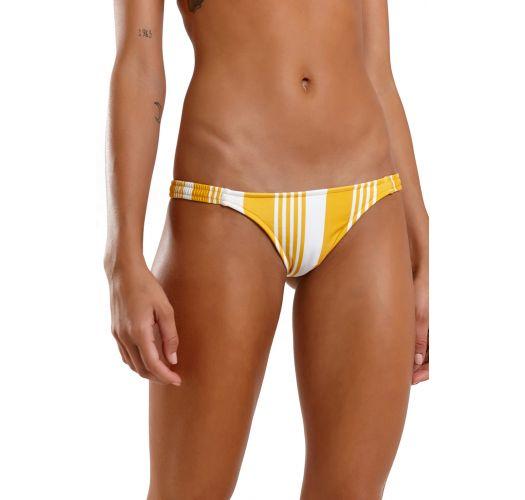 Yellow & white striped bandeau bikini - LATINO NASCA