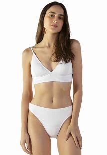 White ribbed longline bikini - LIGHT BRANCO