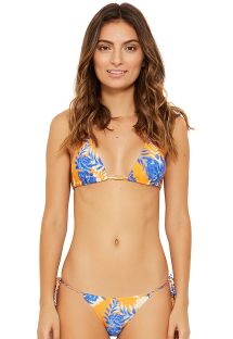 Blue & orange Brazilian triangle bikini - LOLLIPOP SOLAR