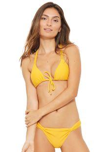 Bikini giallo allacciato davanti multifili dietro - MALDIVAS AMARELO SAFRAN