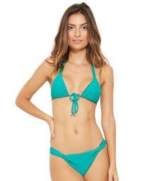 Grön trekants-bikini, knyts framtill - MALDIVAS ISLA