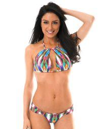 Original multicoloured crop top bikini - MARAMBAIA GLACIAL