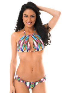 Origineel gesneden kleurige gecropte bikini - MARAMBAIA GLACIAL
