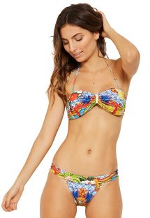 Colorful bandeau bikini with front detail - MASTER HEMISFERIO
