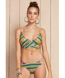 Reversible bikini with criss-cross bra top - MERENGUE