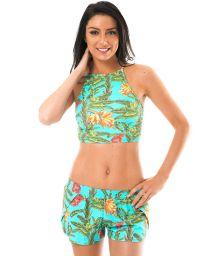 Tropical crop top and beach shorts ensemble - MUSA ALTO REMO